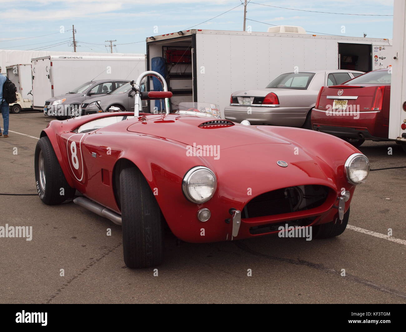 Original 1963 Shelby Cobra competition car as raced by the late Mike Stott of Ho-Ho-Kus, New Jersey. The car, auctioned Stock Photo