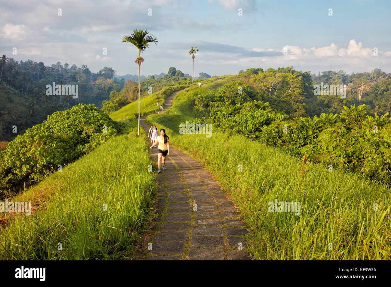 People walking on Campuhan Ridge Walk. Ubud, Bali, Indonesia. - Stock Image