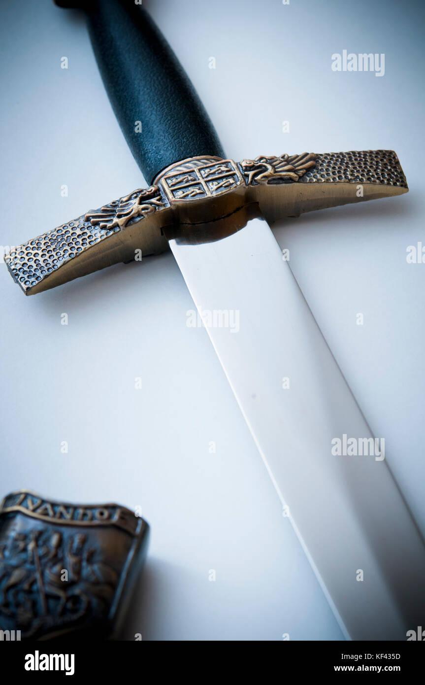 medieval sword  handle - Stock Image