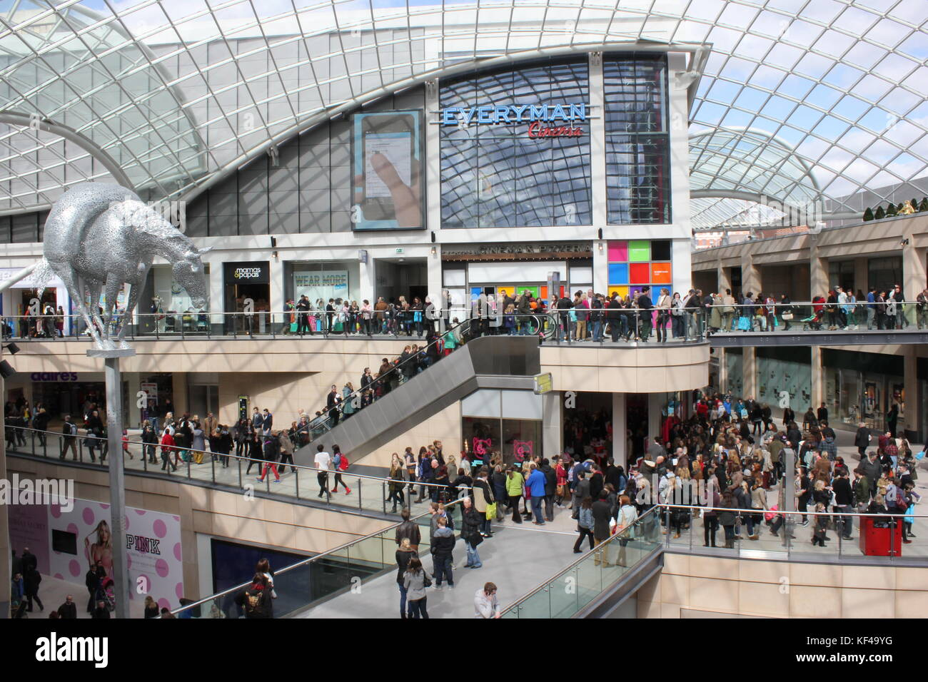 Trinity Leeds is a shopping and leisure centre in Leeds, UK. Located in the centre of Leeds. It opened on 21 March - Stock Image