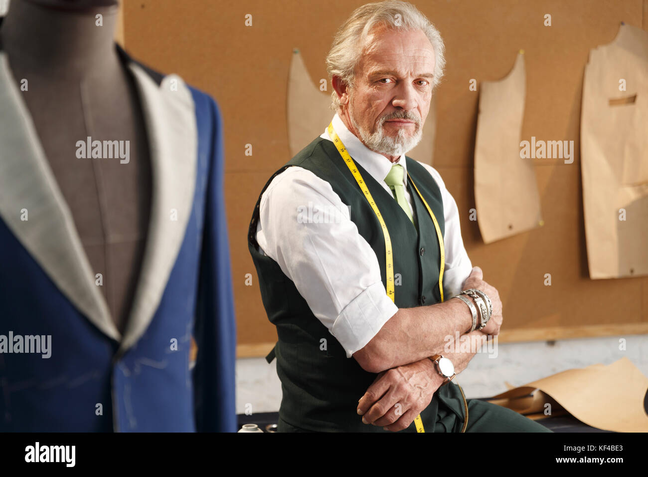 An authoritative fashion designer - Stock Image
