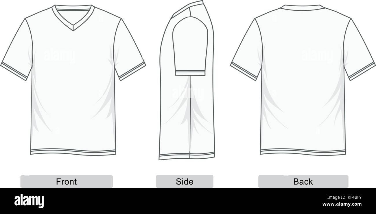 9345debd T shirt short sleeve V-neck templates colorful, men fashion, Vector image
