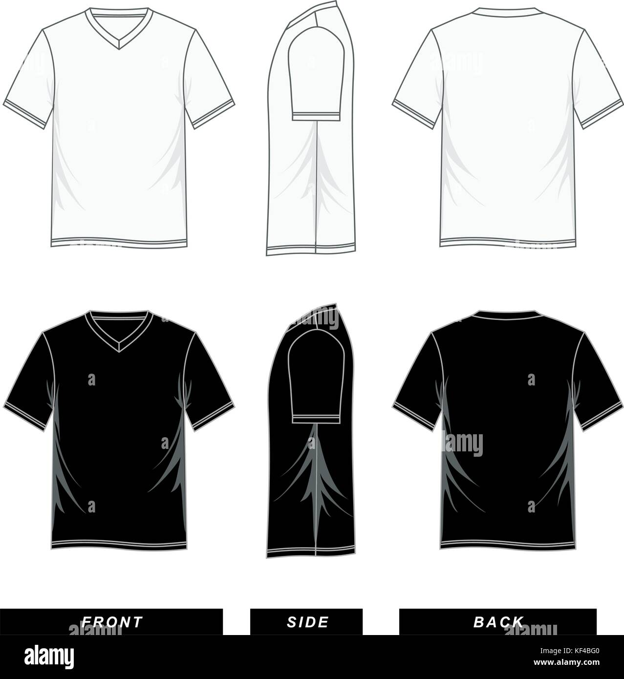 d4a621ed5 T shirt short sleeve V-neck templates colorful, men fashion, Vector image.  Available for any project