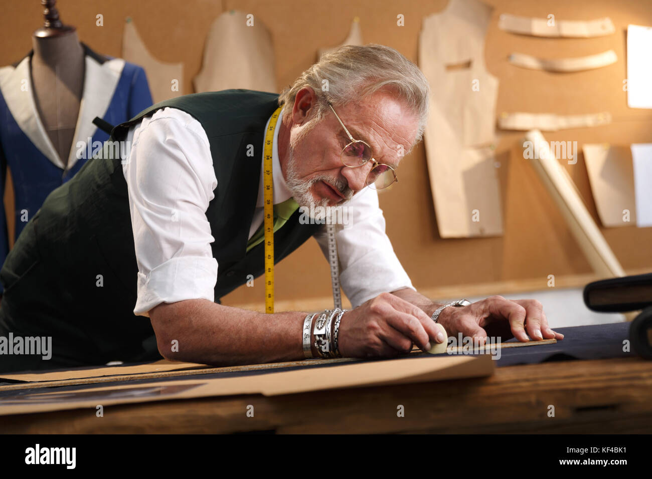 An authoritative fashion designer - Stock Image