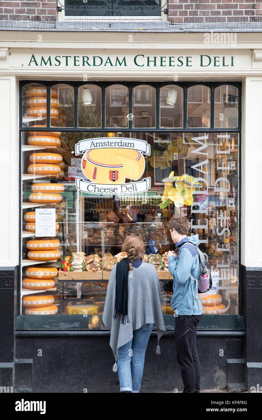 Amsterdam cheese deli, Netherlands - Stock Image