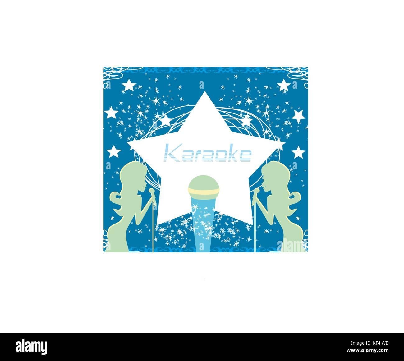 Karaoke Party Invitation Poster Design Template Stock Vector Art