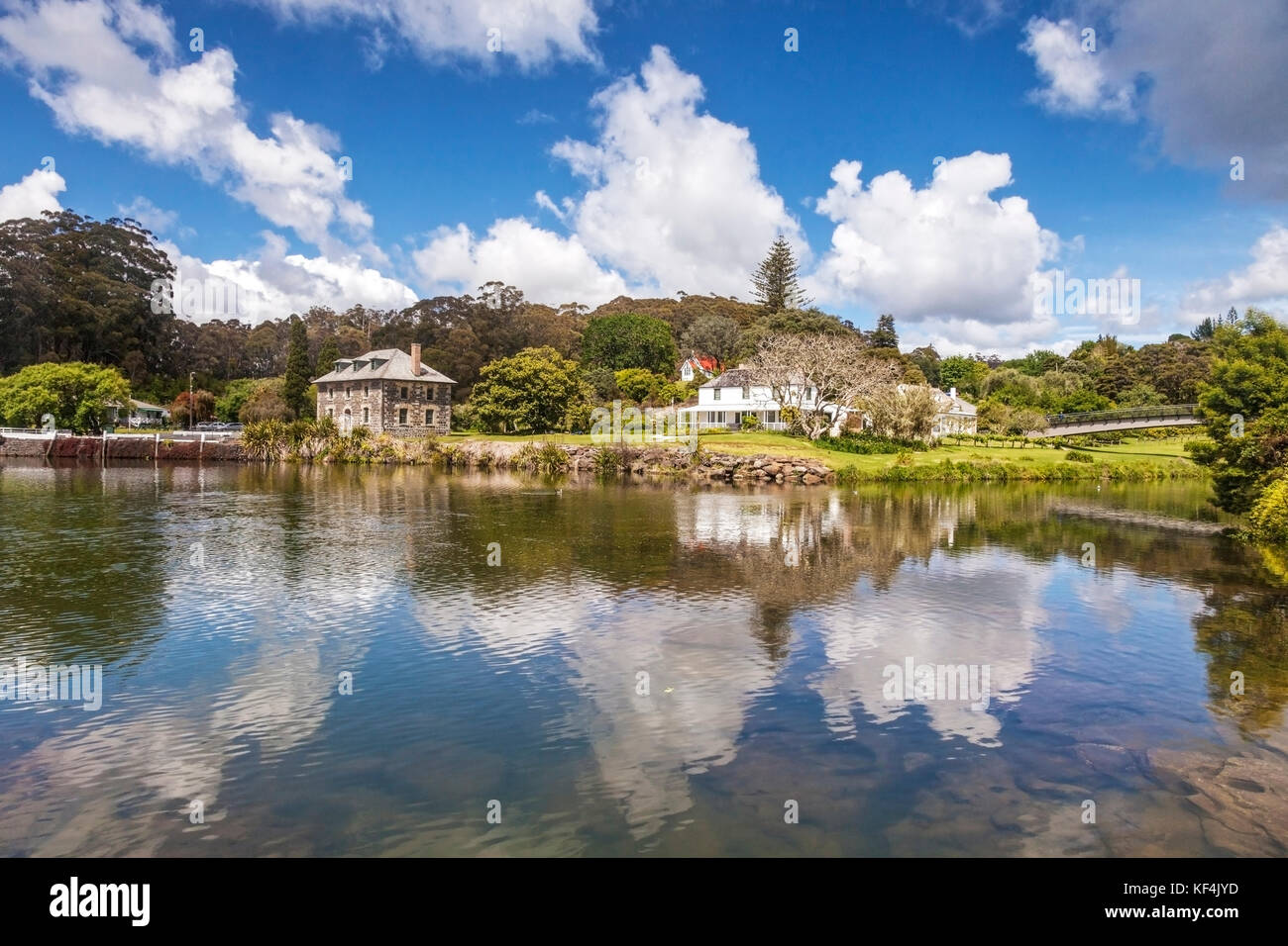 New Zealand's oldest stone building, the Stone Store at Kerikeri, Bay of Islands. Kerikeri in Northland is one - Stock Image