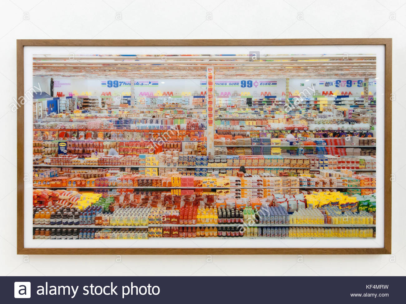 Andreas Gursky 99 Cent II Diptychon Large Format Photographs C Print Mounted To Acrylic Glass 1999 From Arts Foods Exhibition Milan 2015