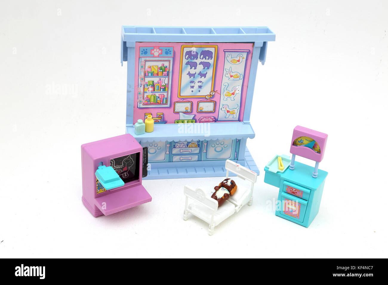 afc3ef4219 Vintage 1990 s Toy Littlest Pet Shop Care Centre - Stock Image