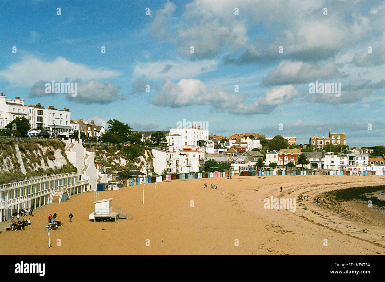 Seafront buildings overlooking the harbour at Broadstairs, Isle of Thanet, on the East Kent coast, UK Stock Photo