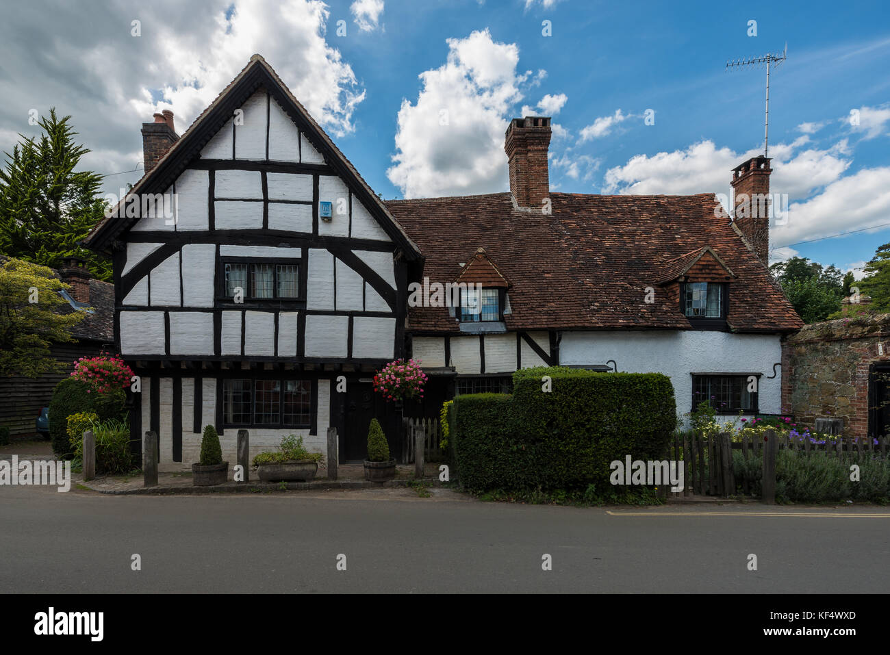 Traditional houses of the village of Shere in the Guildford district of Surrey, United Kingdom Stock Photo