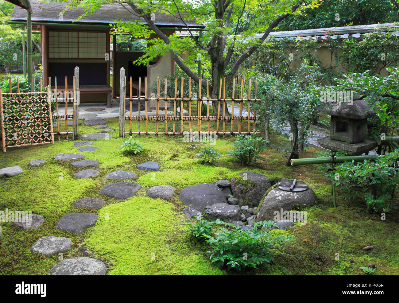 Japan, Kyoto, Daitokuji Temple, Oubai-in, garden, - Stock Image