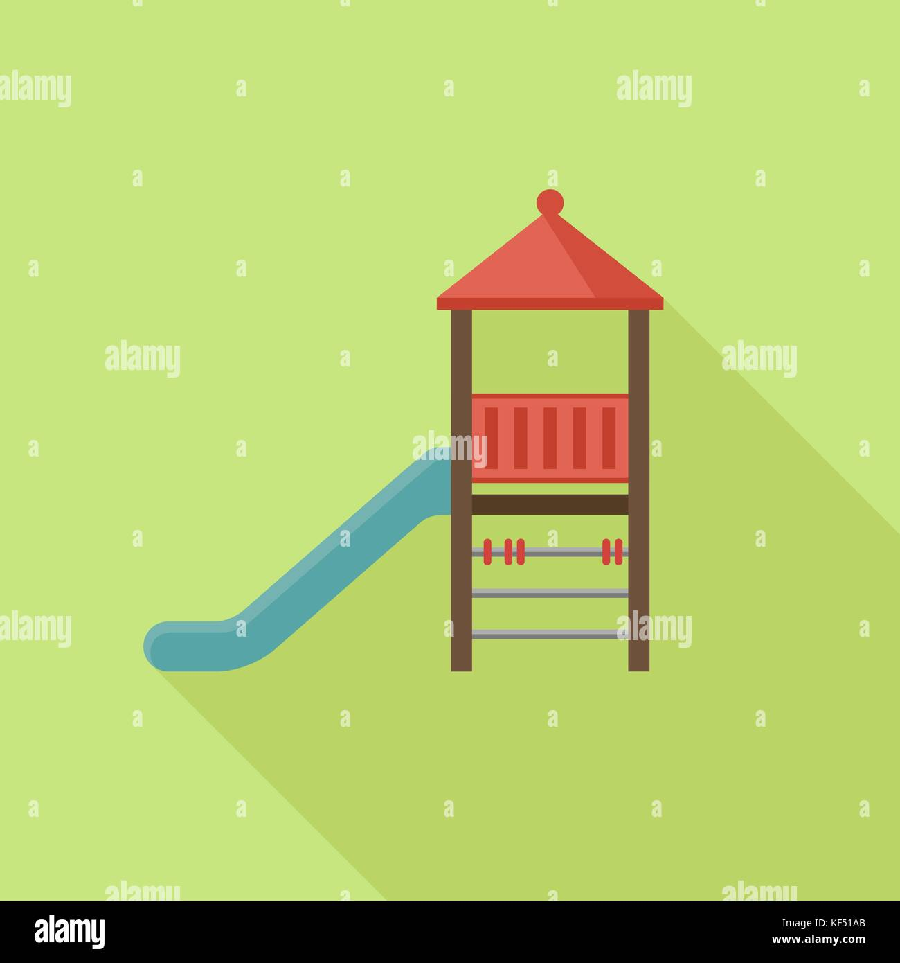 Slide play equipment - Stock Vector