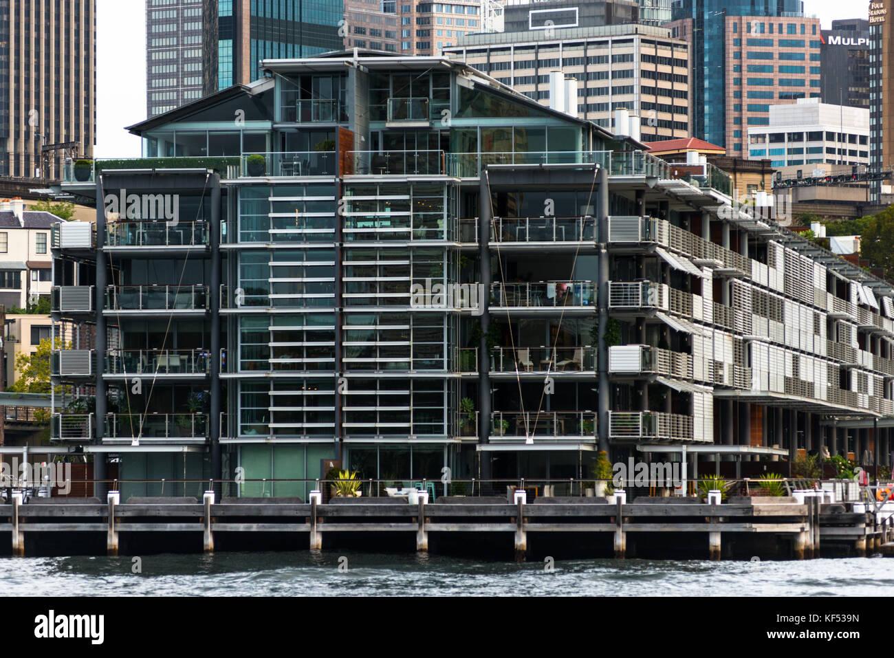 Apartments, Pier 1, Walsh Bay, Sydney, New South Wales, Australia - Stock Image