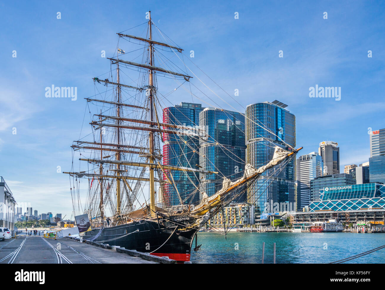 Australia, New South Wales, Sydney, Darling Harbour, Wharf 7, Maritime Heritage Centre, view of the iron-hulled - Stock Image