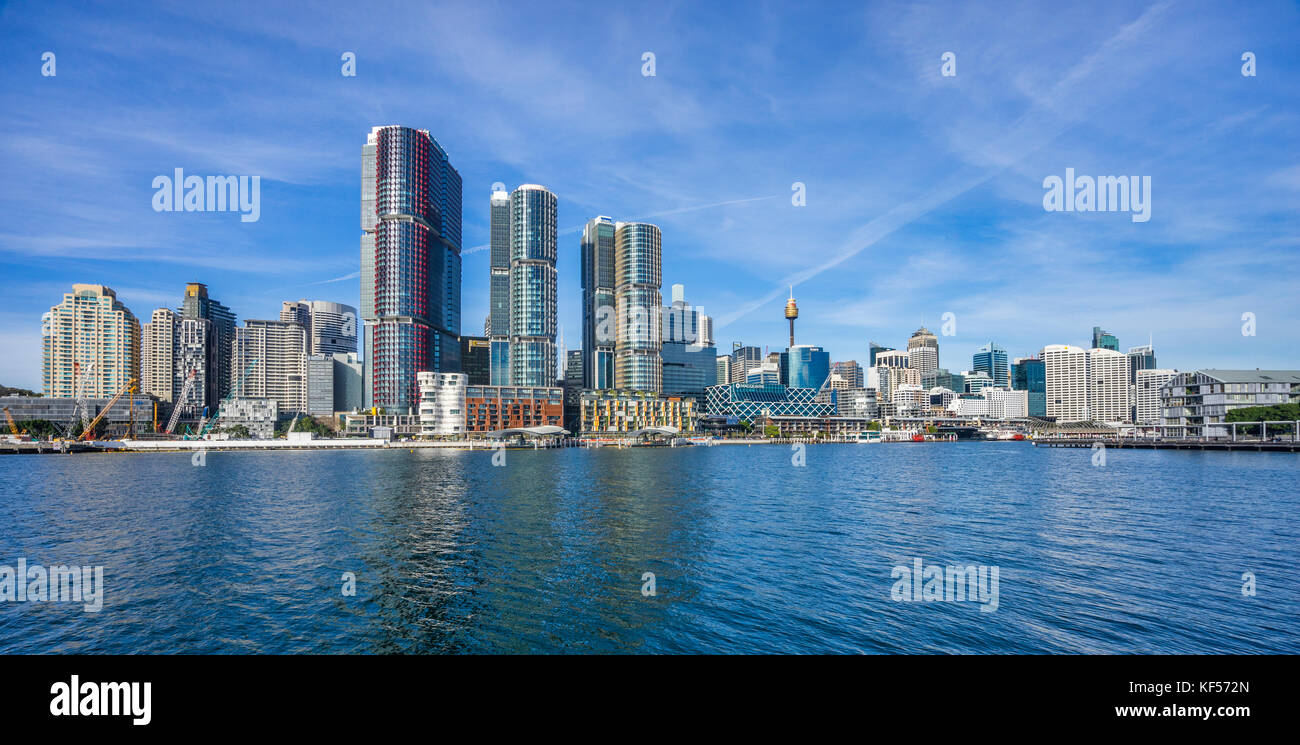 Australia, New South Wales, Sydney, Darling Harbour, view of the Barangaroo International Towers - Stock Image