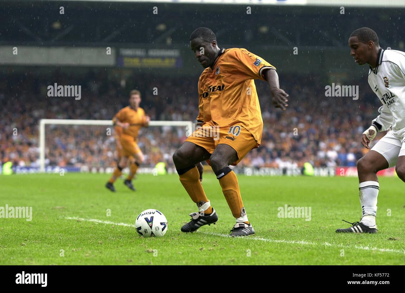 Wolverhampton Wanderers footballer Ade Akinbiyi 2000 - Stock Image