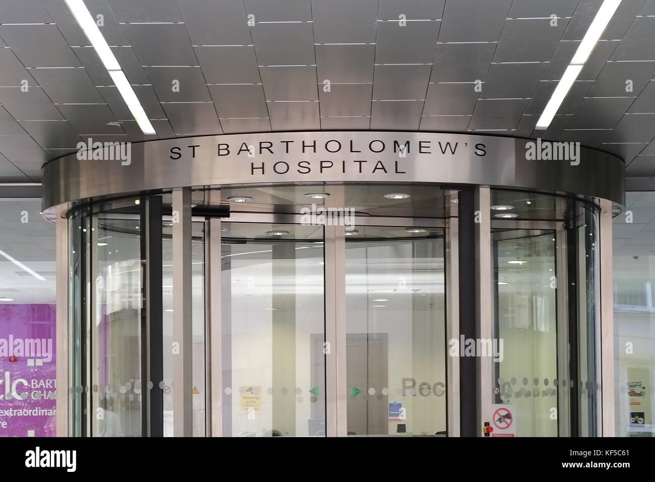 Barts Heart Centre St Bartholomew's Hospital (Barts), is a leading, internationally renowned teaching hospital based - Stock Image