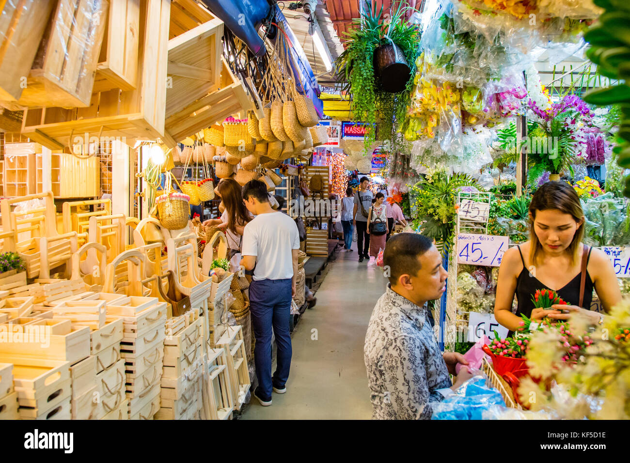 Chatuchak weekend market, Bangkok, Thailand - Stock Image