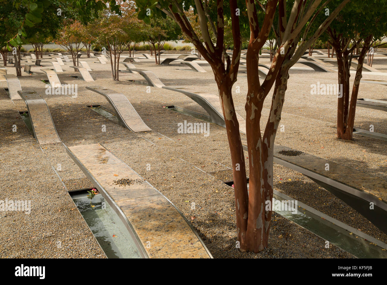 Memorial at the Pentagon in memory to those who lost their lives in the terror attack of - Stock Image