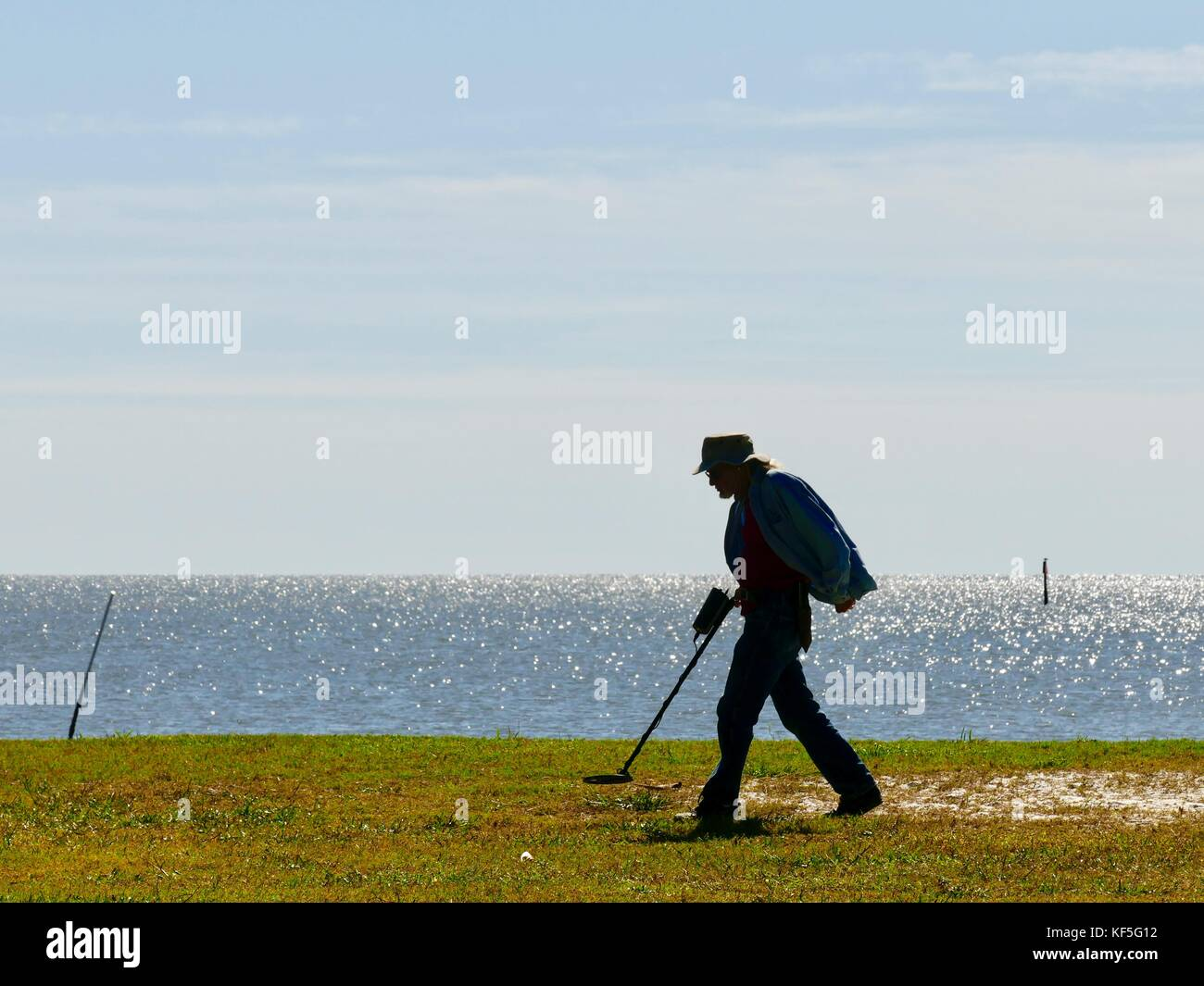 Jew Detector: Metal Detector Beach Stock Photos & Metal Detector Beach