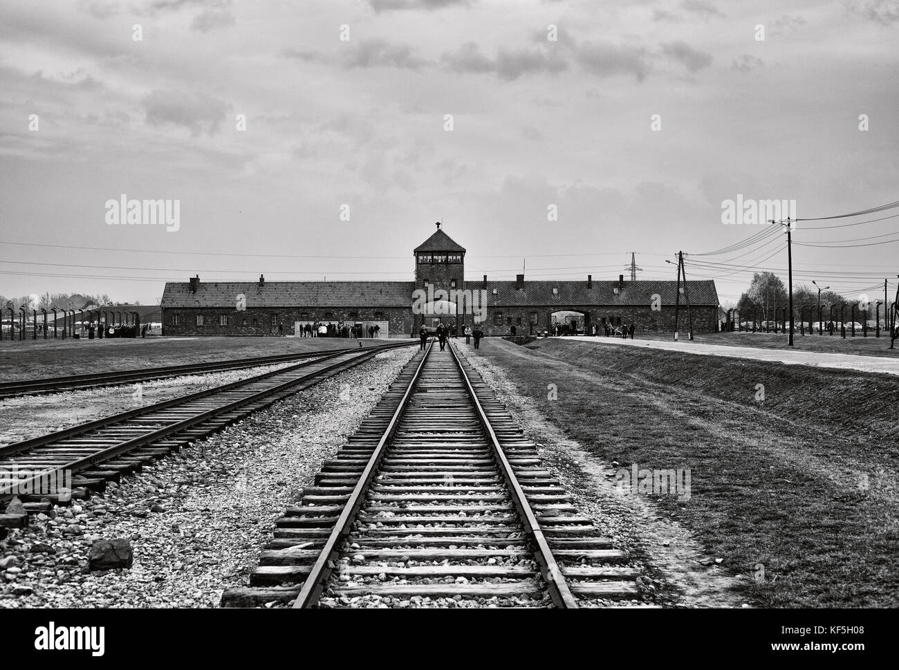 Birkenau, Camp of horror - Stock Image