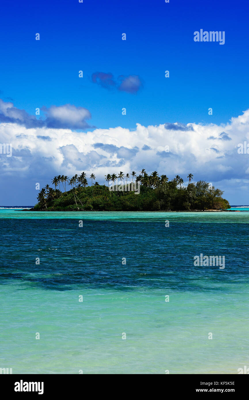 Muri Beach Lagoon, Rarotonga, South Pacific, Cook Islands - Stock Image