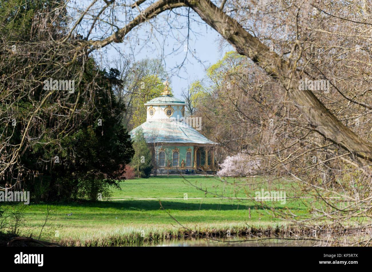 Chinese House, Potsdam, Brandenburg State, Germany, Europe - Stock Image