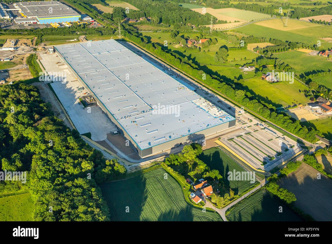 Amazon logistic center Werne, under construction, Baustelle Amazon Logistik Werne, Logistikzentrum, Internethandel, - Stock Image