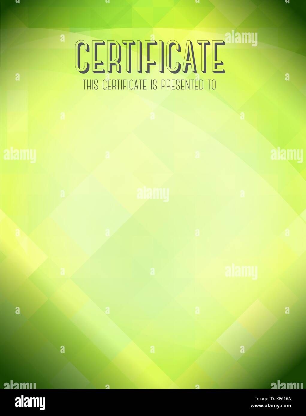 Certificate template with green background stock vector art certificate template with green background yelopaper Image collections