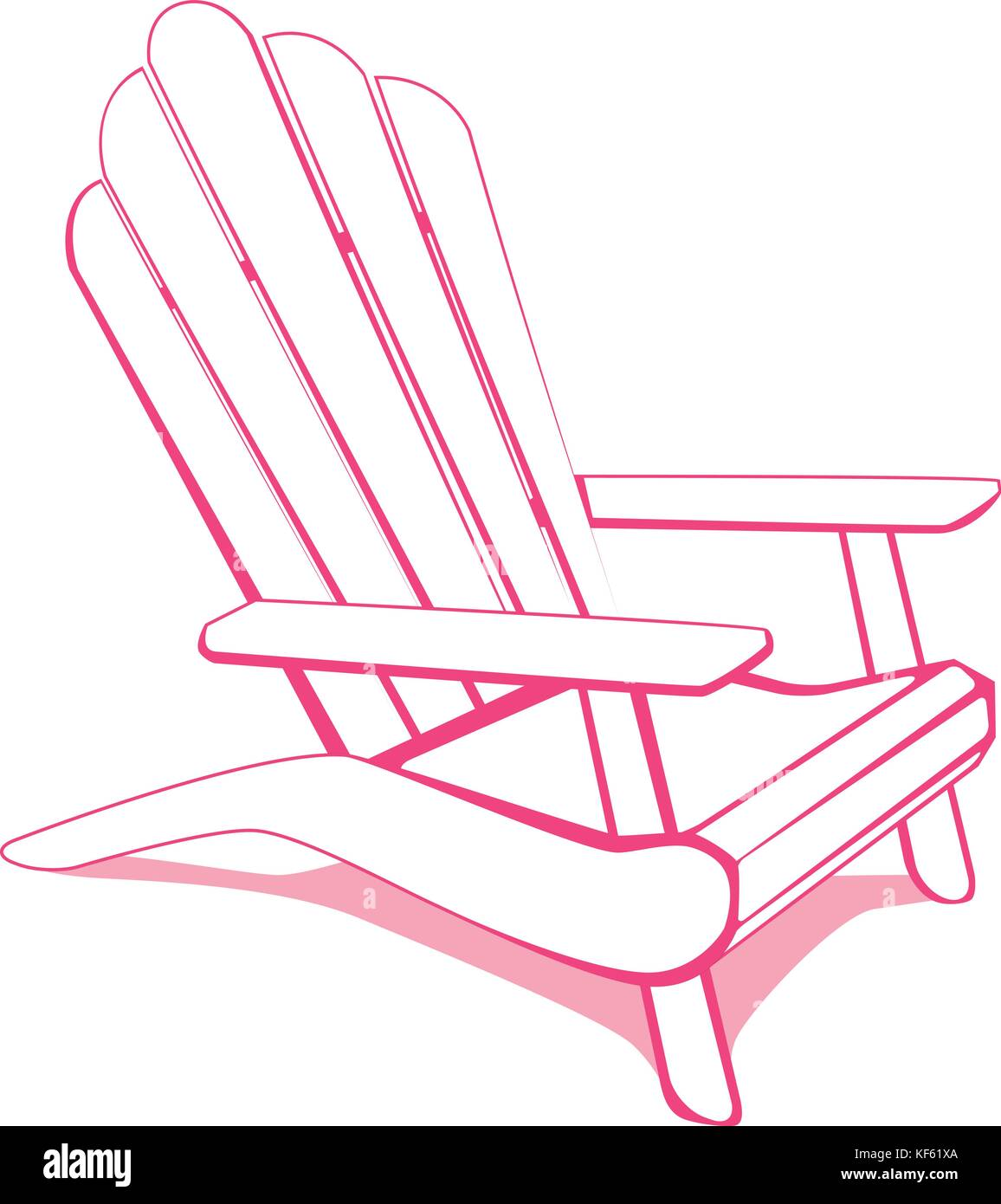 Adirondack Beach Chair Stock Vector Art Illustration Vector