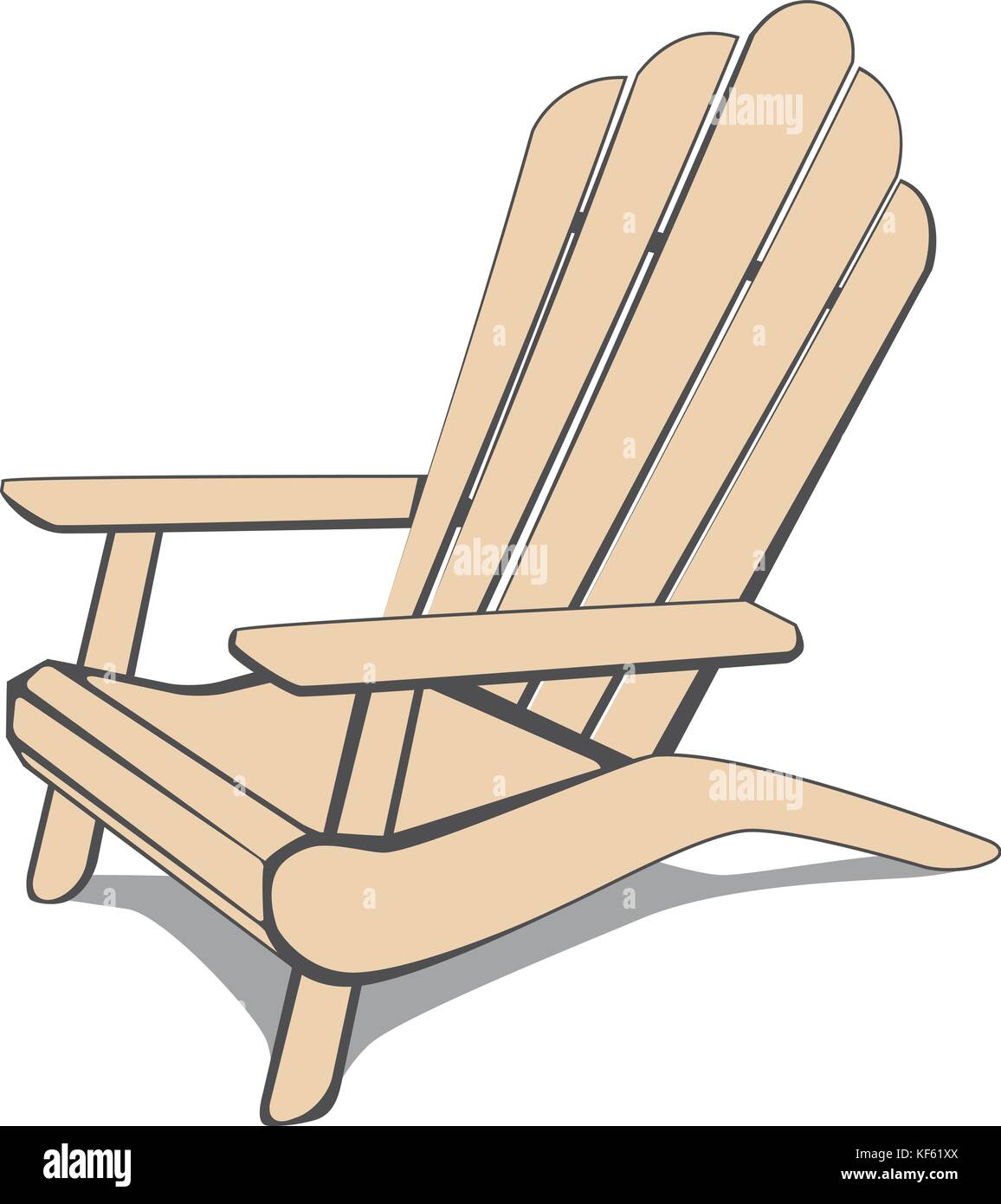 Adirondack Chair Stock Vector Images - Alamy