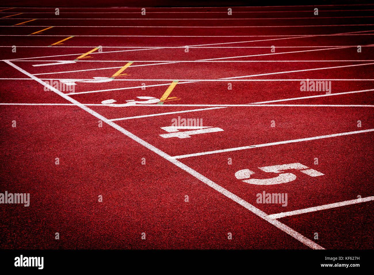 Stadium running tracks - Stock Image