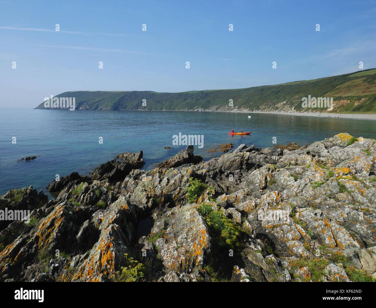 Dodman Point From Vault Beach Near Gorran Haven Cornwall Summer Stock Photo Alamy