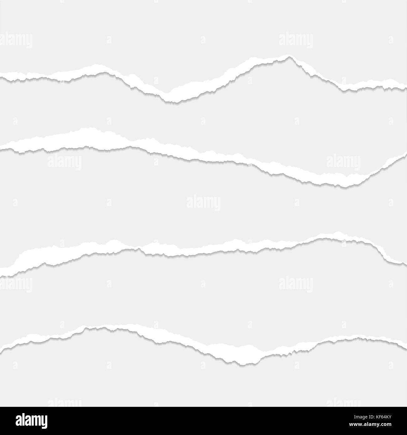 Set of torn paper layered - vector - Stock Vector
