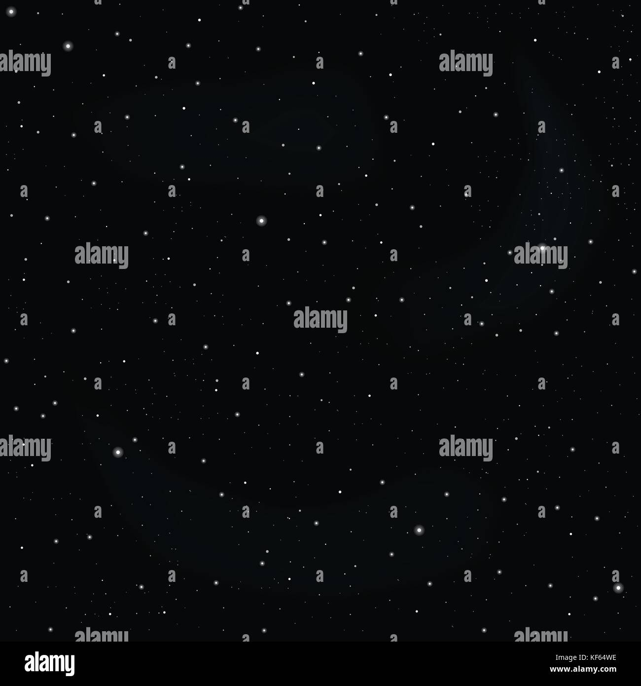 Dark sky with stars vector texture or background - Stock Vector
