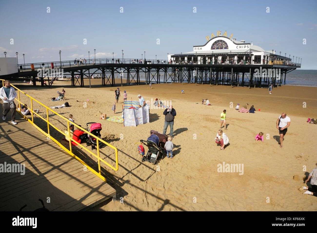 Cleethorpes Pier, UK. - Stock Image