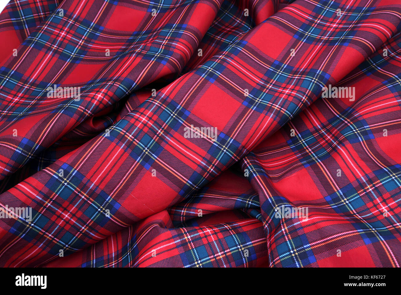 Red And Blue Tartan Tablecloth   Stock Image