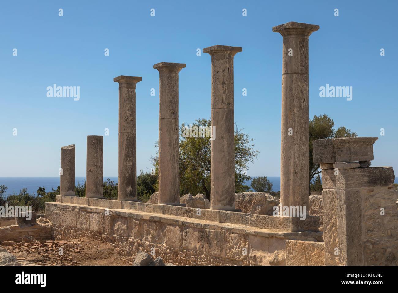 The Sanctuary of Apollo Hylates, Kourion, Limassol, Cyprus - Stock Image
