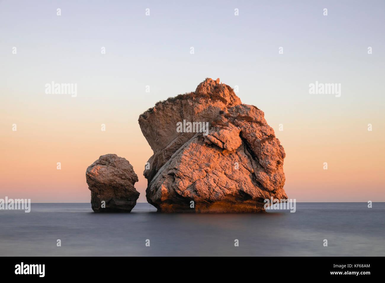 Petra tou Romiou, Aphrodite's Rock, Paphos, Cyprus - Stock Image