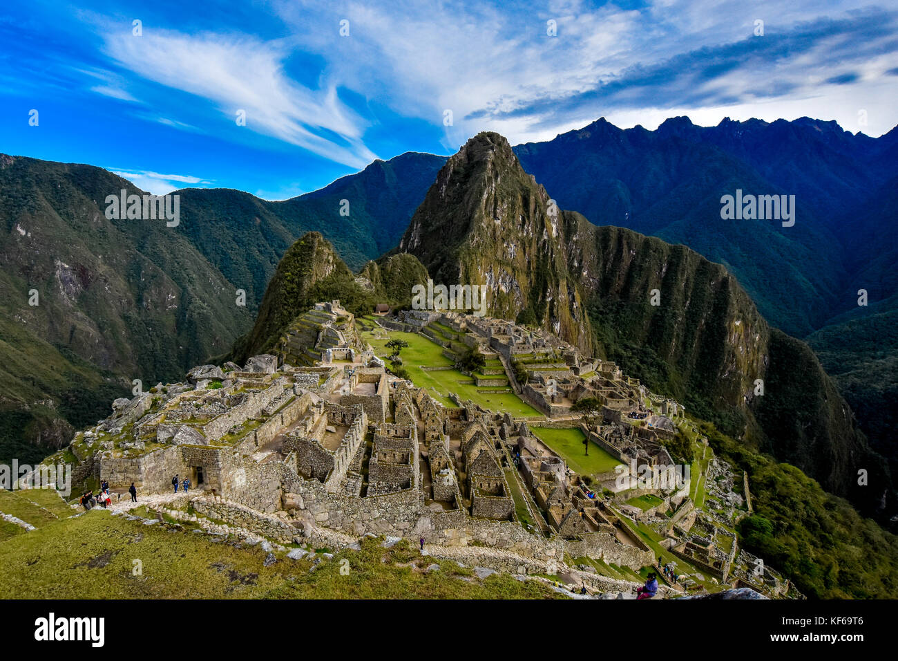 Machu Picchu at its best. One of the most amazing places I've ever seen - Stock Image