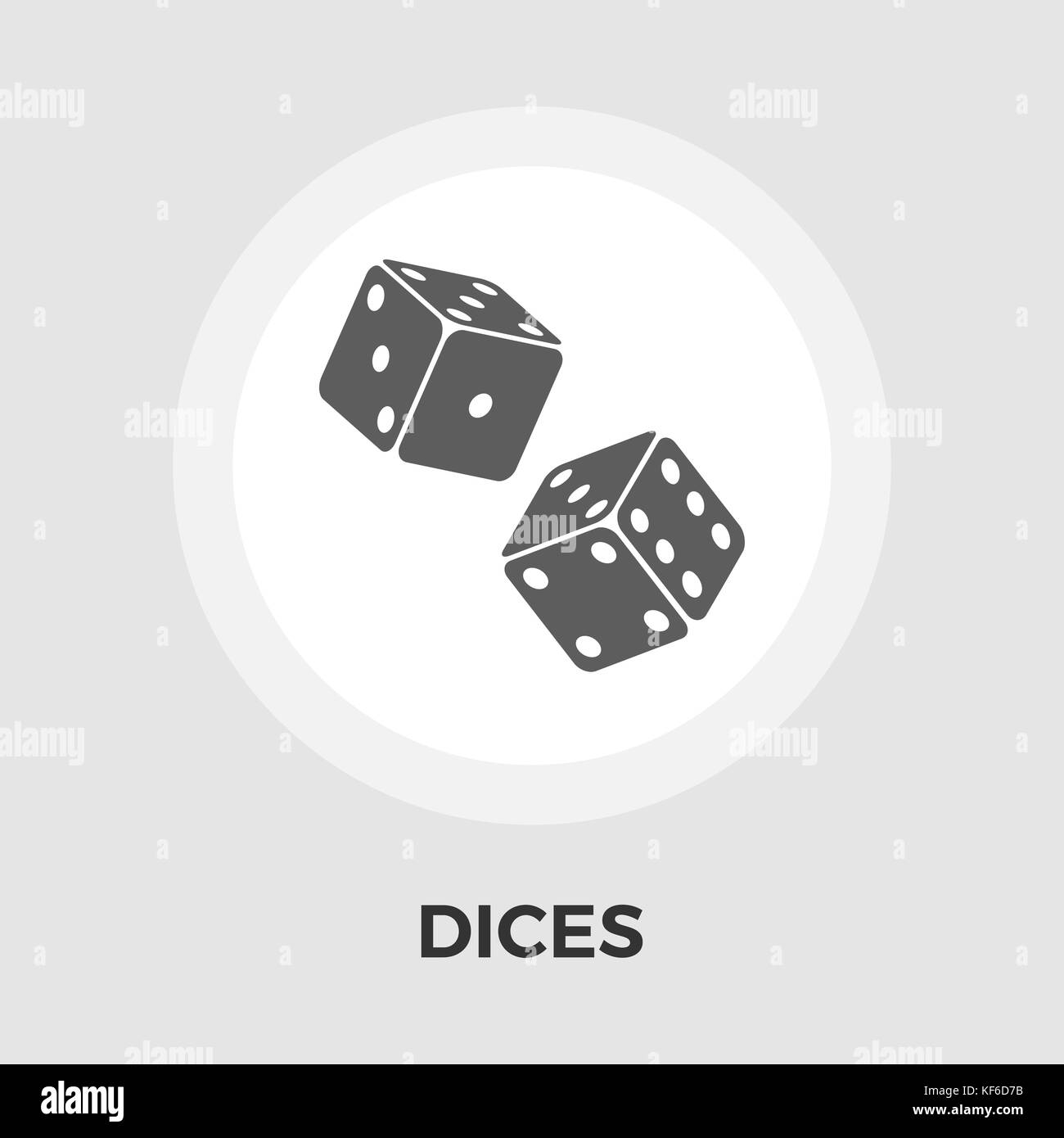 Dices vector flat icon - Stock Image