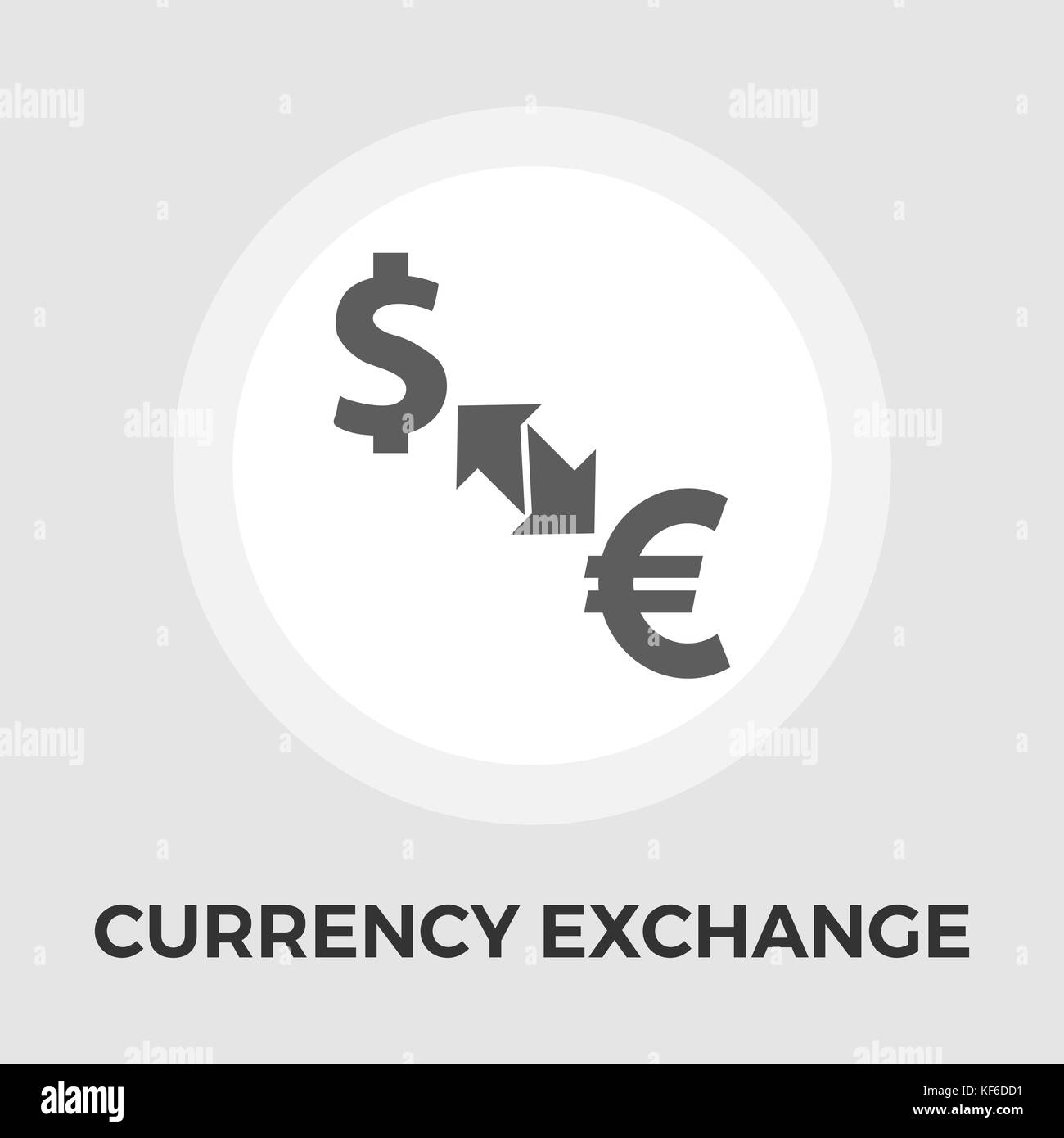 Currency exchange vector flat icon - Stock Image
