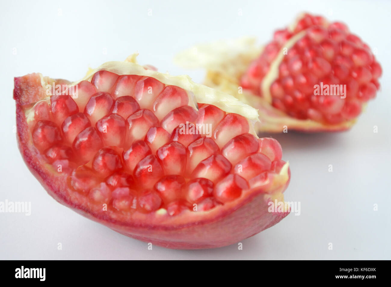 Pomegranate Fruit seeds. Food background and texture for the Jewish festival of Sukkot (Feast of Tabernacles) in - Stock Image