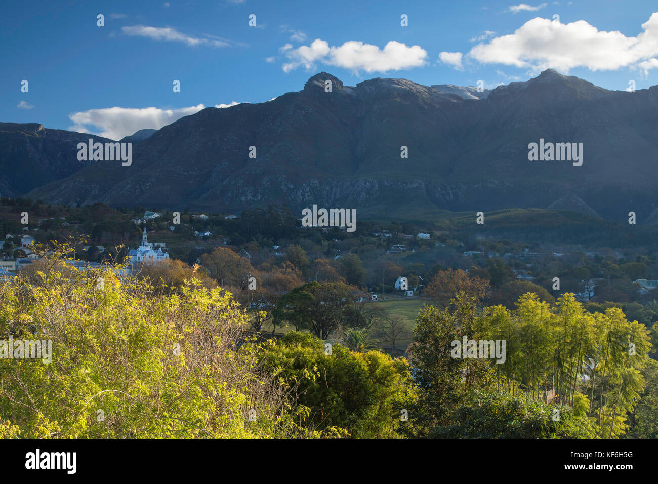 View of Swellendam, Western Cape, South Africa Stock Photo