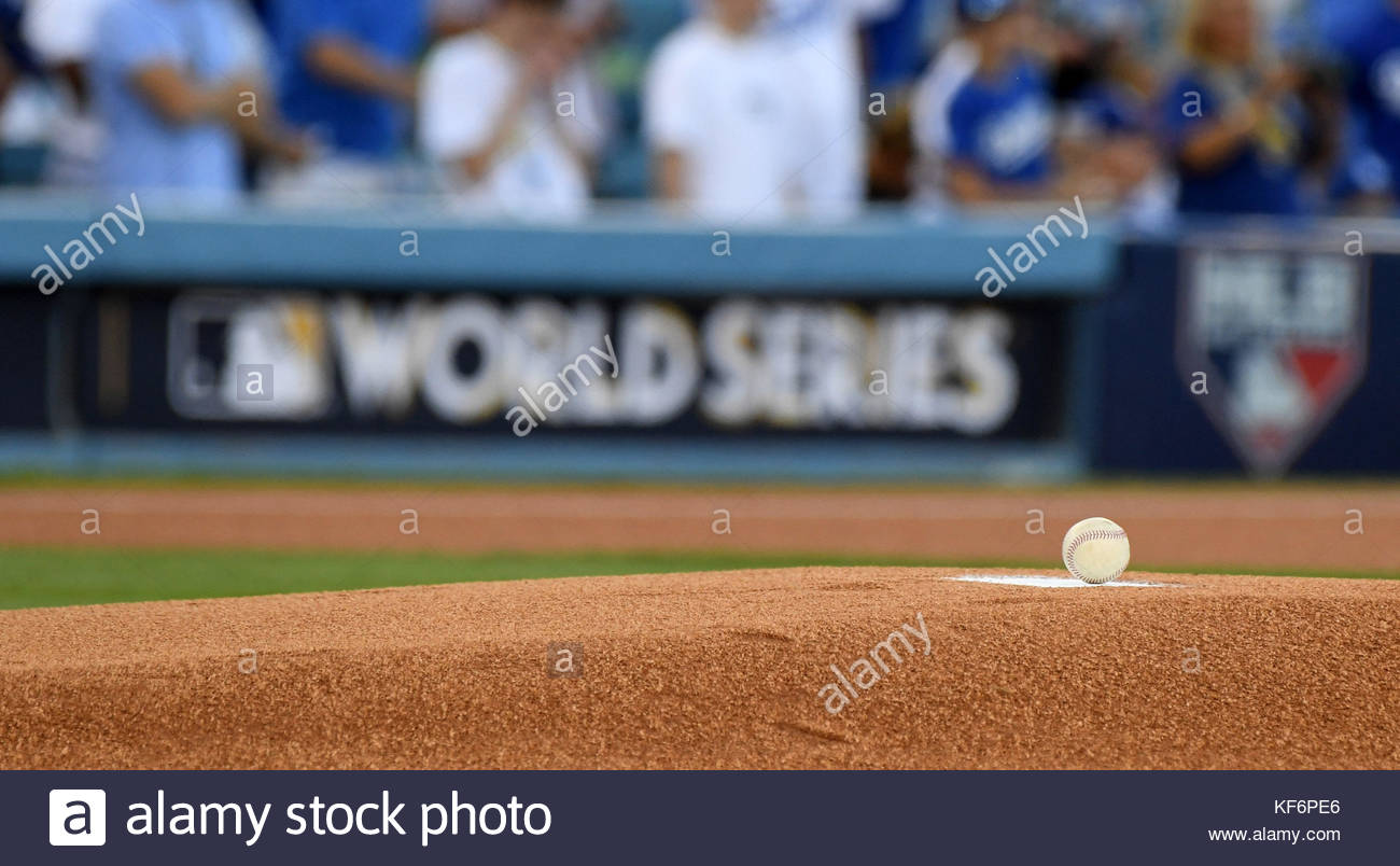 Los Angeles, California, USA. 25th Oct, 2017. Houston Astros vs. Los Angeles Dodgers game two of a World Series - Stock Image