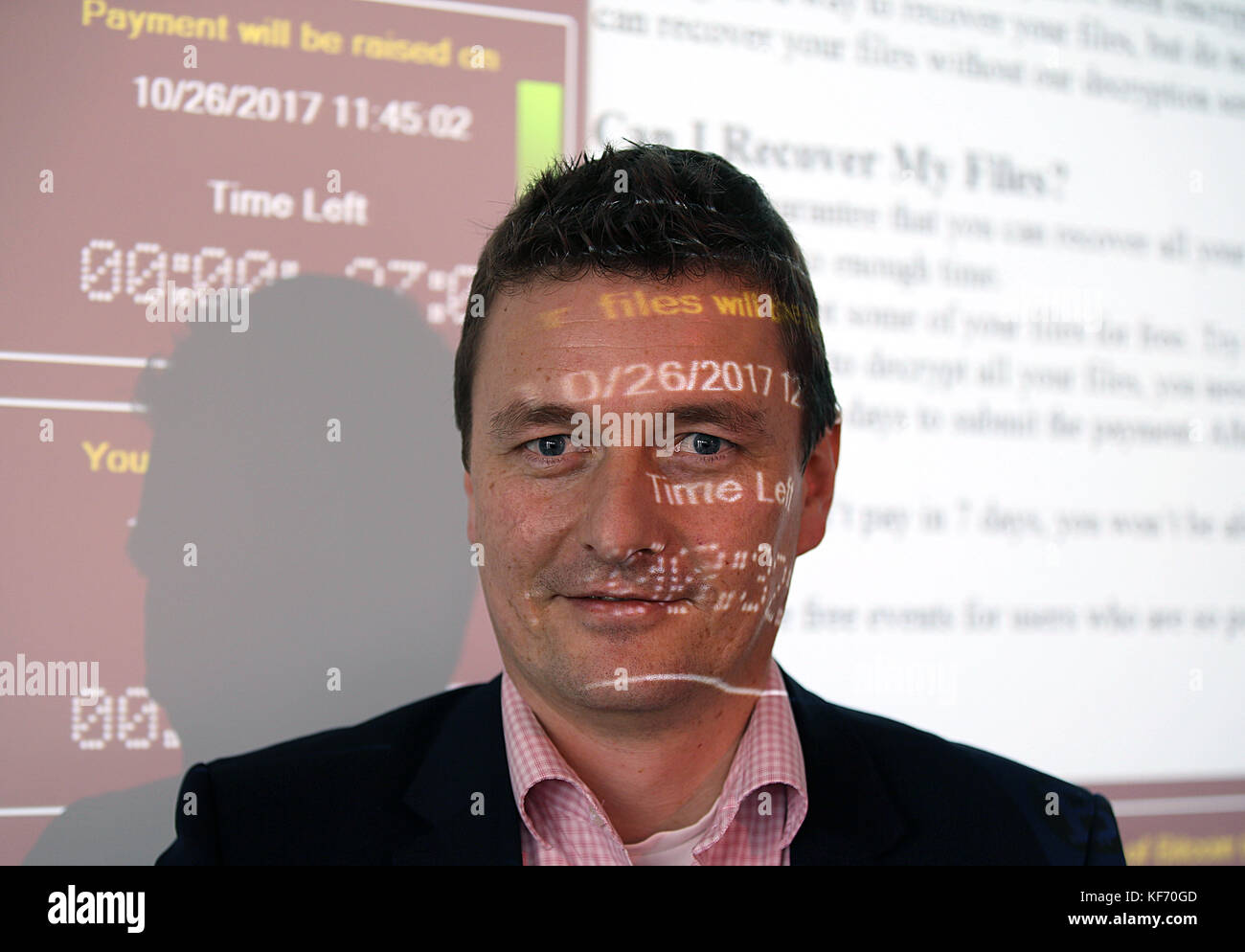 The director of the Cyber Security divison at the Frauenhofer Institute FKIE, Michael Meier, standing in front of - Stock Image