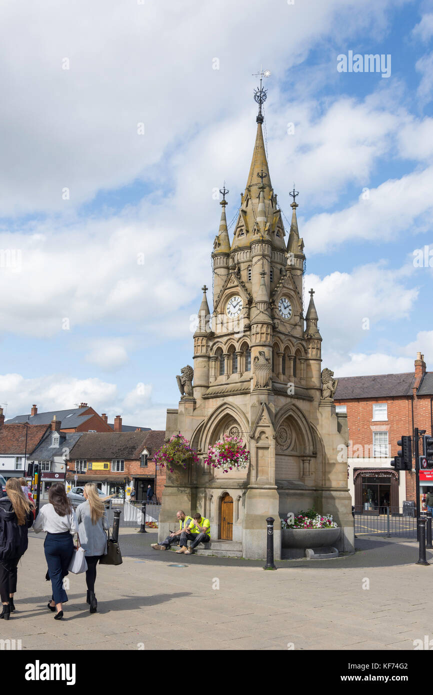 American Fountain at Rother Market, Stratford-Upon-Avon, Warwickshire, England, United Kingdom - Stock Image