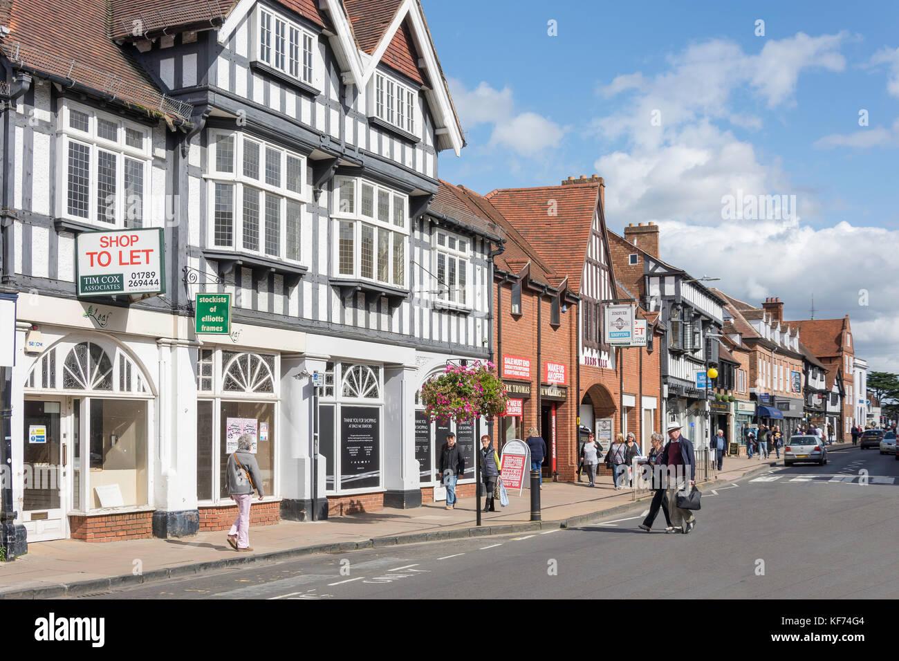 Wood Street, Stratford-upon-Avon, Warwickshire, England, United Kingdom - Stock Image