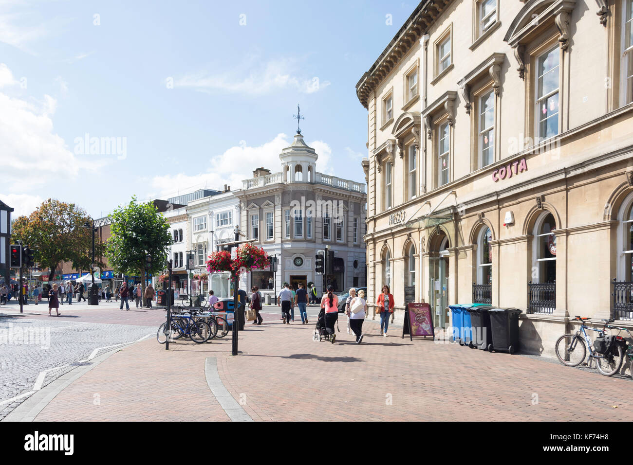 Corporation and High Streets, Taunton, Somerset, England, United Kingdom - Stock Image